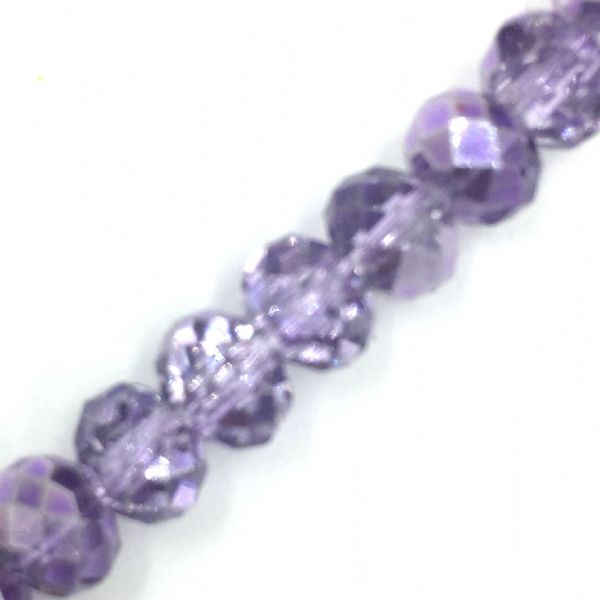 Crystal rondelle carnival beads - lilac